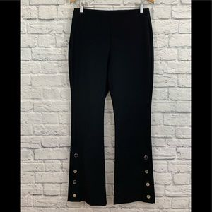 INC INTERNATIONAL CONCEPTS BLACK SIDE SNAP PANTS